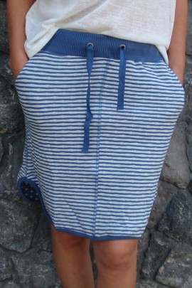 Skirt 'DRINKEN' stripe